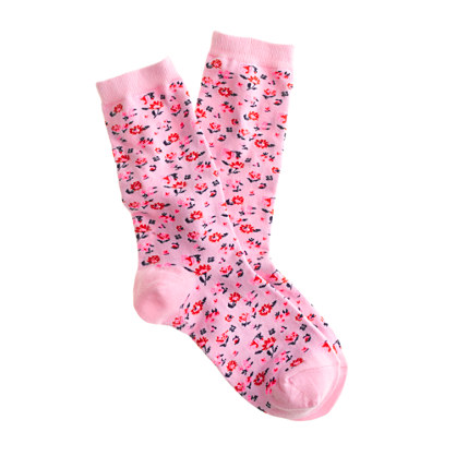 Floral-print socks
