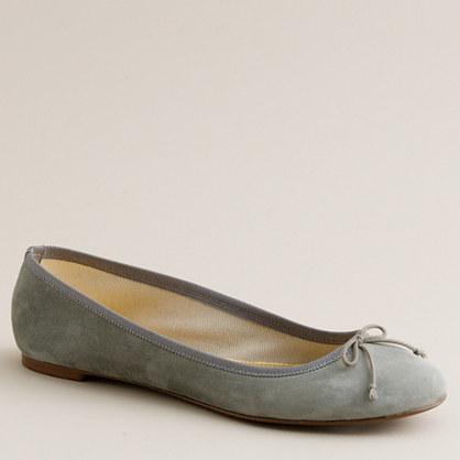 Marjorie suede ballet flats