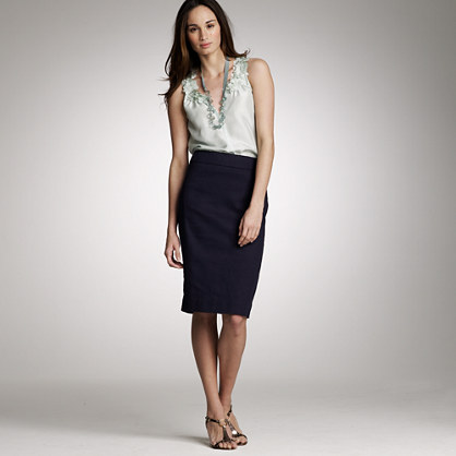 Birch-cloth cotton pencil skirt