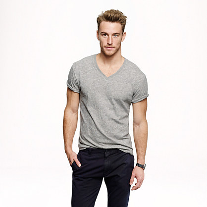 Tall field knit V-neck T-shirt