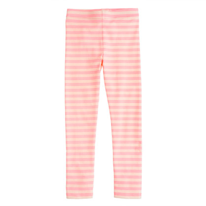 Girls' everyday leggings in classic stripe