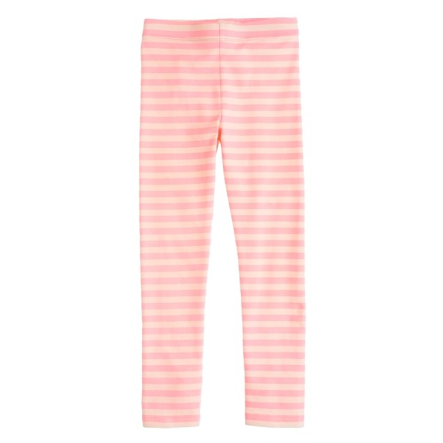 Girls' everyday leggings in classic stripe