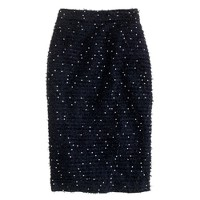 Collection sequin tweed pencil skirt