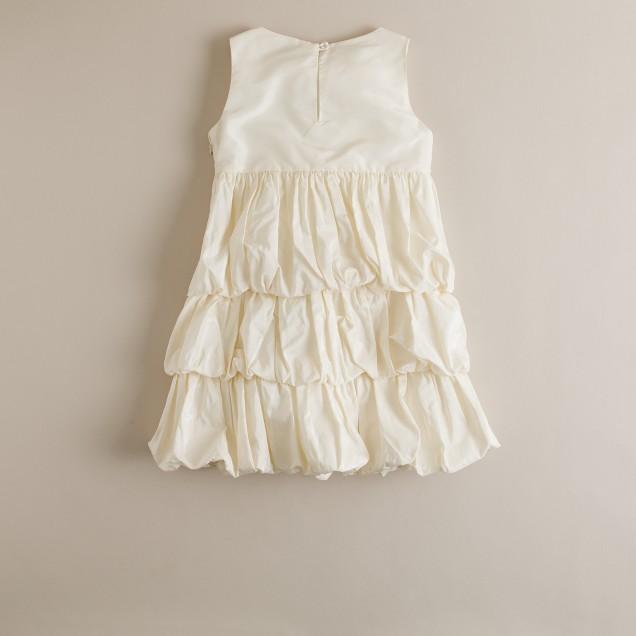 Girls' silk taffeta Tiffany dress