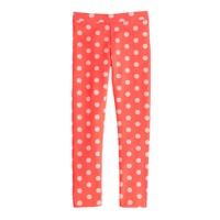 Girls' everyday leggings in dot neon
