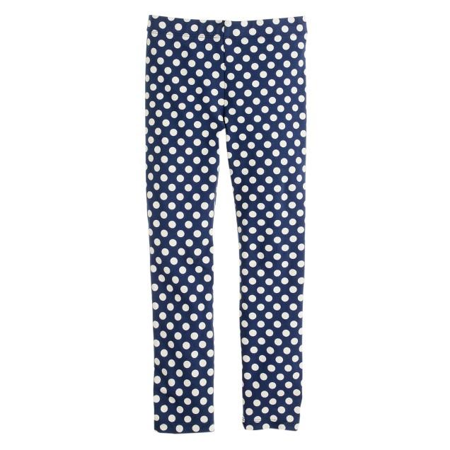 Girls' everyday leggings in graphic dot