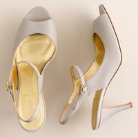 Peep-toe slingback Mary Janes