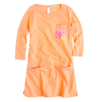 Girls' bouquet pocket tunic