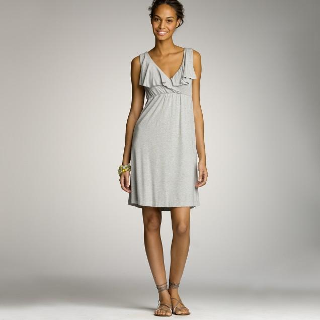 Dressy jersey ruffle dress