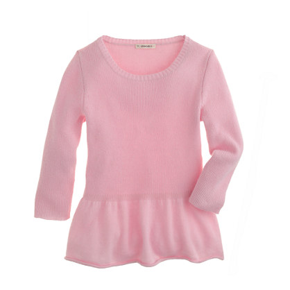 Girls' peplum sweater