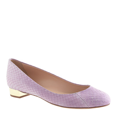 Collection Janey snakeskin flats