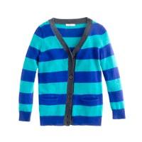 Girls' V-neck cardigan in stripe