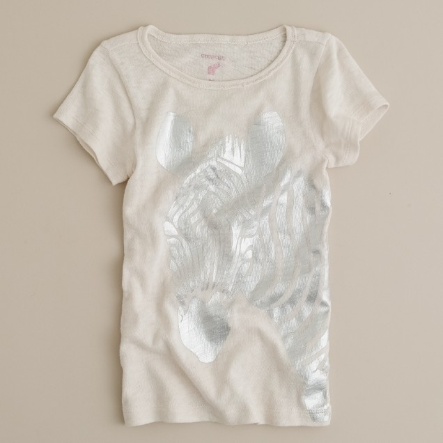 Girls' zebra graphic tee