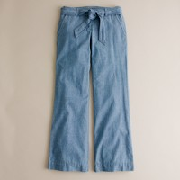 Faded-chambray seaside pant