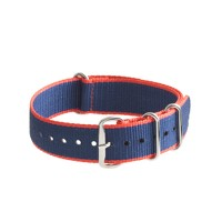 Striped watch strap