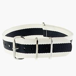Striped watch strap