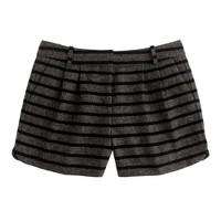 Tweed stripe short