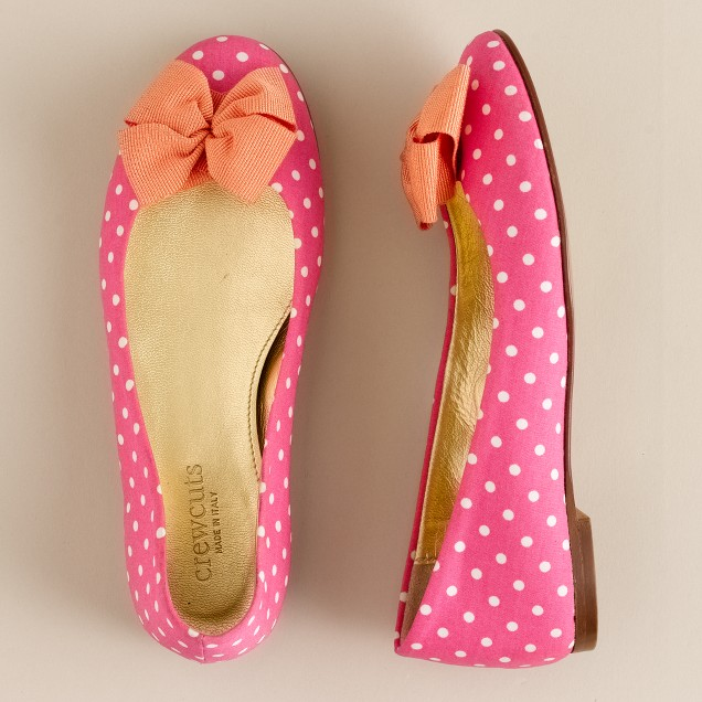 Girls' sweet spots ballet flats with bow
