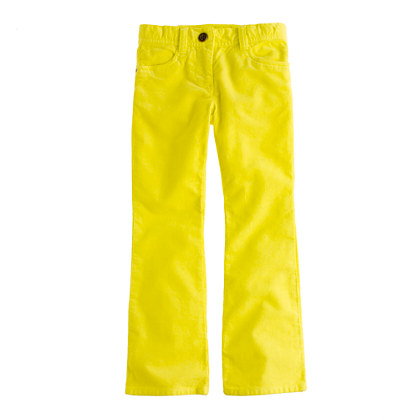 Girls' garment-dyed bootcut cord