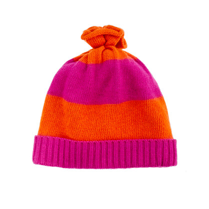 Girls' rugby-stripe hat