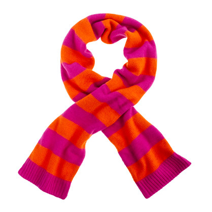Girls' rugby-stripe scarf