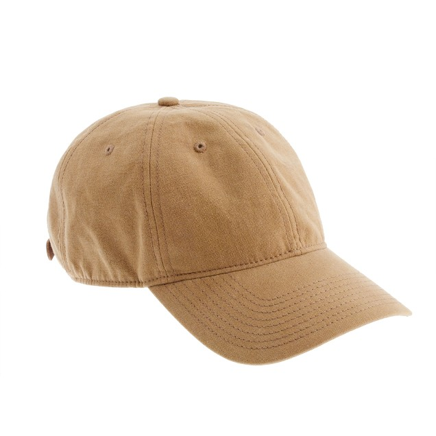 Waxed baseball hat