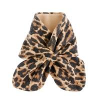 Girls' leopard pull-through scarf