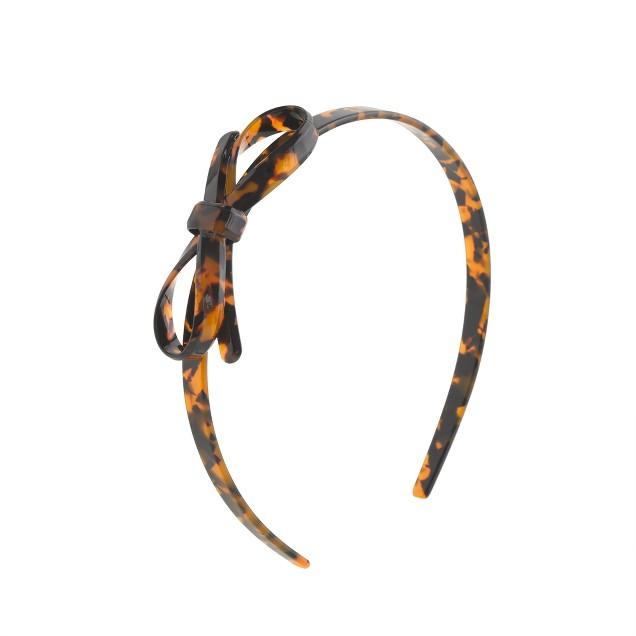 Girls' tortoise bow headband