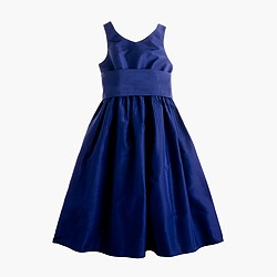 Girls' Avery dress in silk taffeta