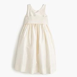 Girls' Avery dress in silk taffeta