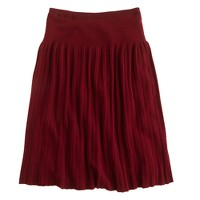 Pleated sweater-skirt