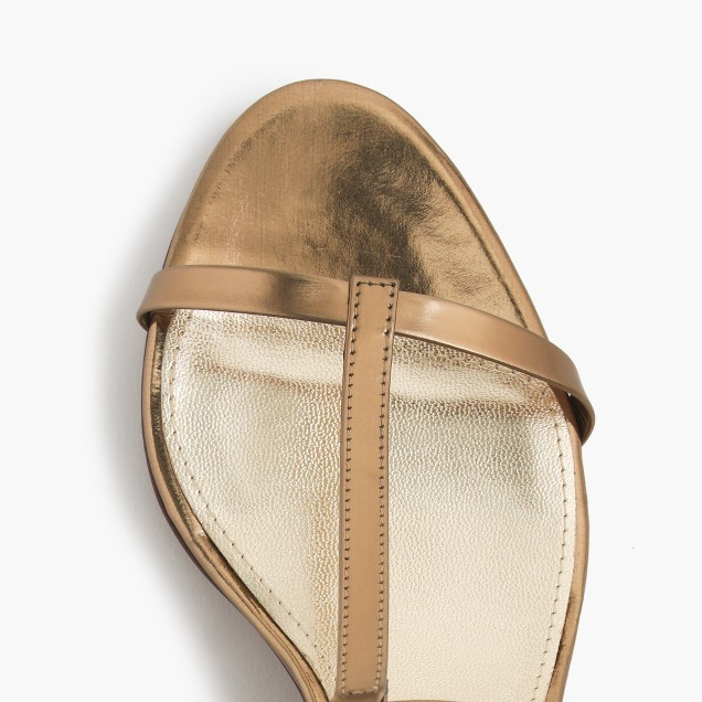 Greta metallic sandals