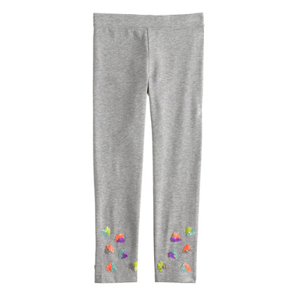 Girls' everyday leggings in sequin hearts