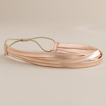 Triple-band metallic elastic headband