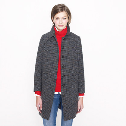 Collection tweed topcoat