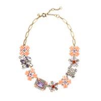 Geometric bouquet necklace