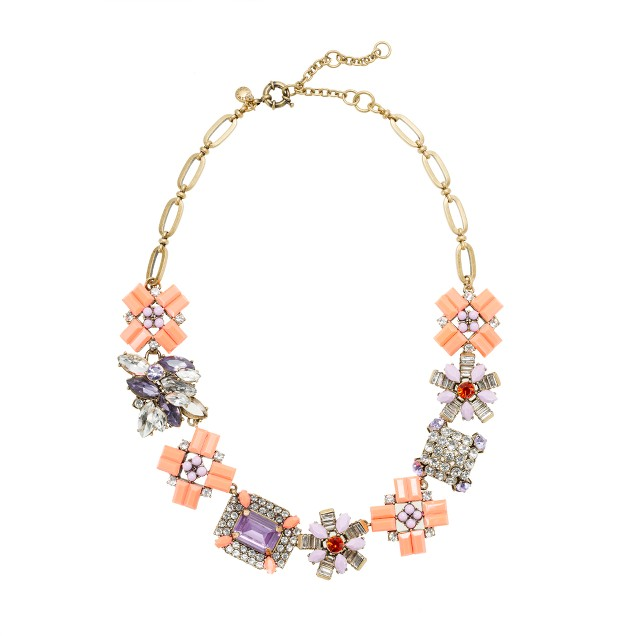 Geometric bouquet necklace