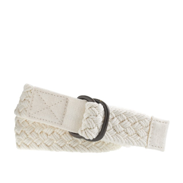 Boys' cotton braided belt