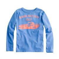 Boys' Italian race car long-sleeve tee
