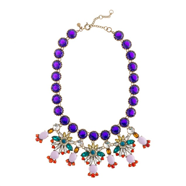 Crystal color statement necklace