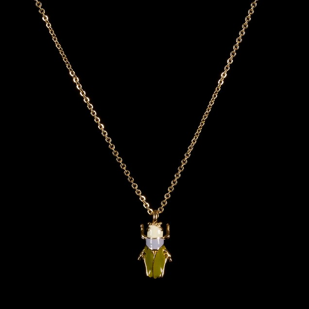Grasshopper necklace
