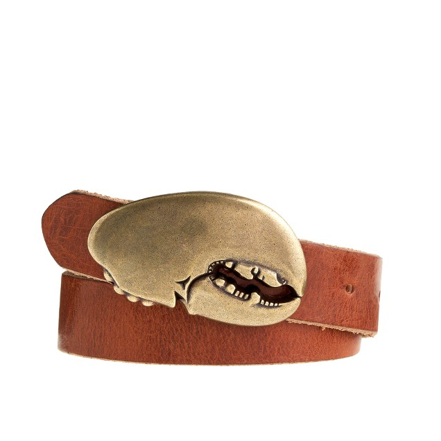 Boys' leather lobster claw belt