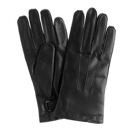 Portolano® for J.Crew cashmere-lined leather gloves
