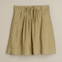 Colored-linen Monterey skirt