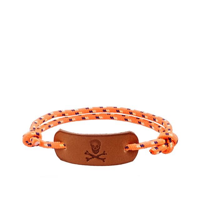 Boys' skull rope friendship bracelet