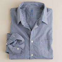 Secret Wash lightweight point-collar shirt in small gingham