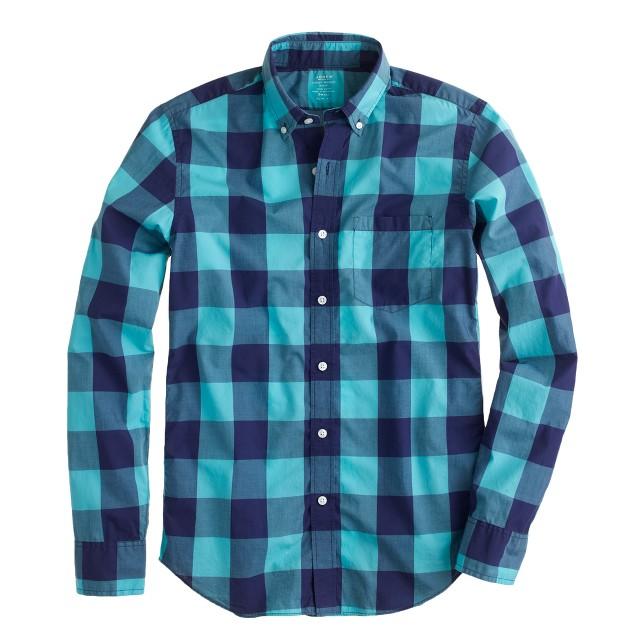 Tall lightweight shirt in oversize gingham
