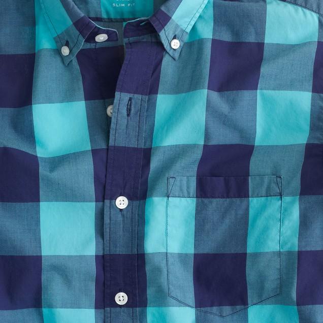 Lightweight shirt in oversize gingham