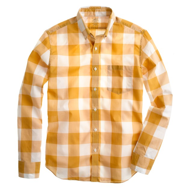 Slim lightweight shirt in oversize gingham