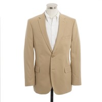 Aldridge two-button suit jacket with center vent in chino